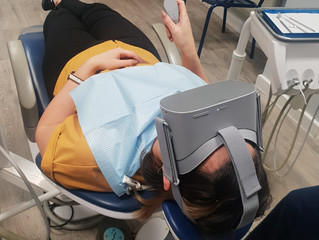 Virtual reality goggles: helping patients with dental anxiety
