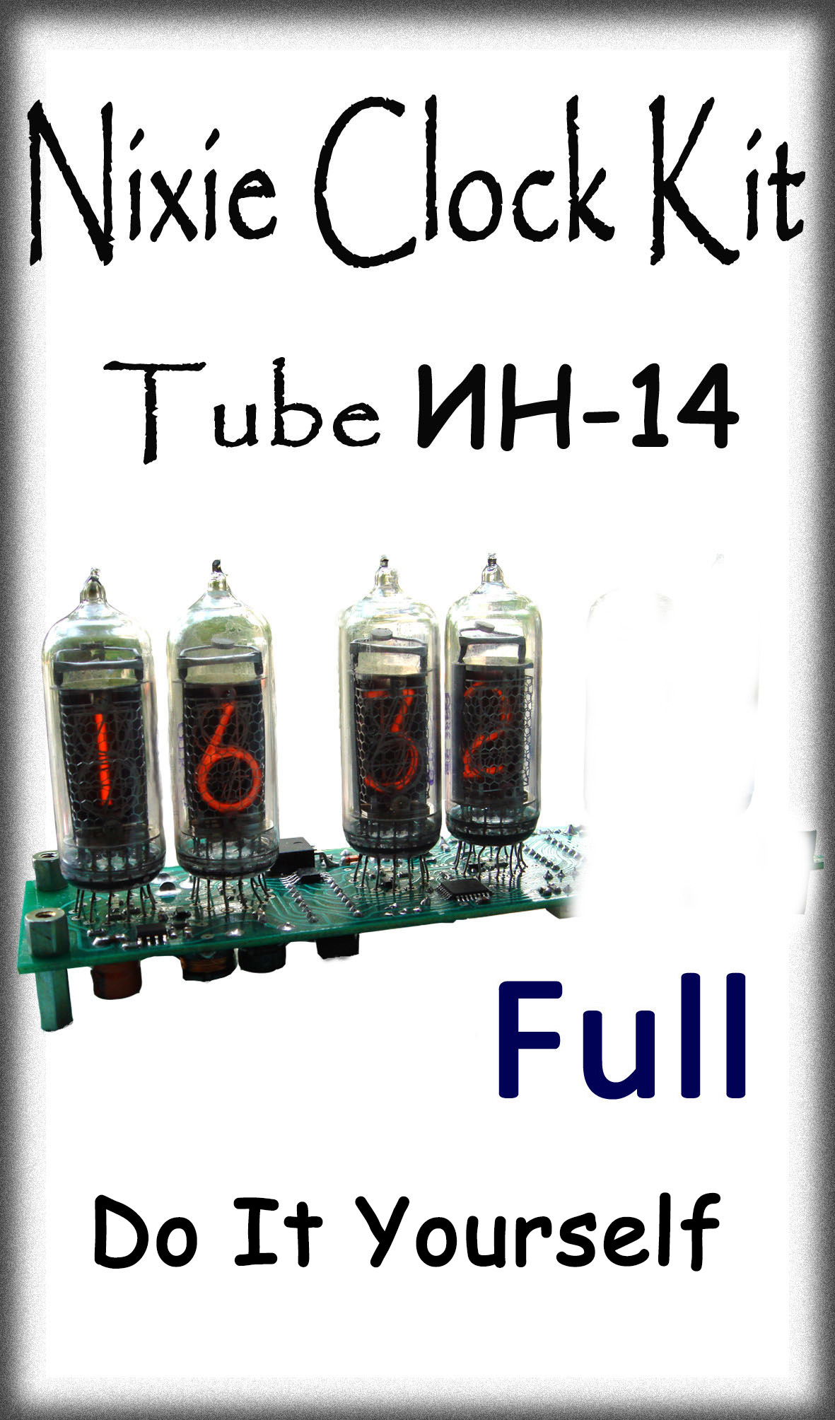 Nixie Clock IN-14 4-Tube Full