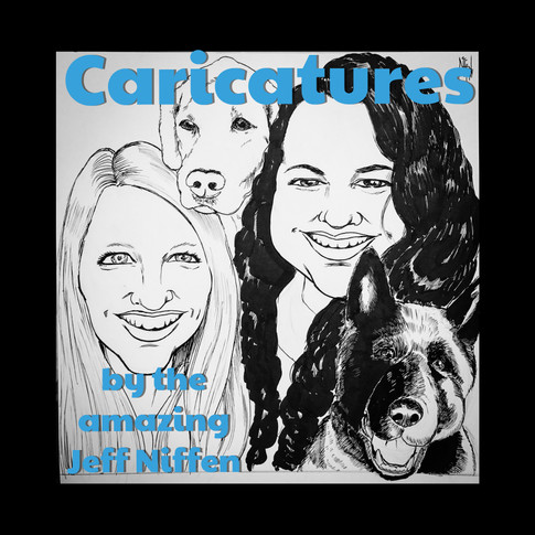 Mammal Caricatures by local artist Jeff Niffen