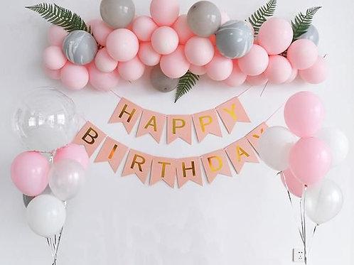 Balloon Kit Happy Birthday Girl