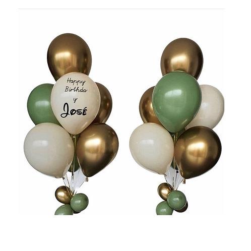 Helium Balloon Bouquet - 9  balloons