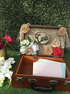 cards-wedding-banner-sign-suitcase-rusti