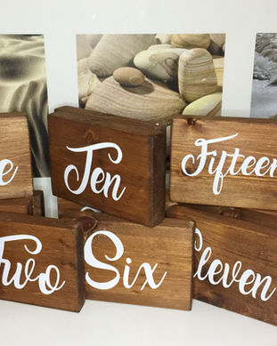 Rustic+Wooden+Table+Numbers+-+Wood+Table