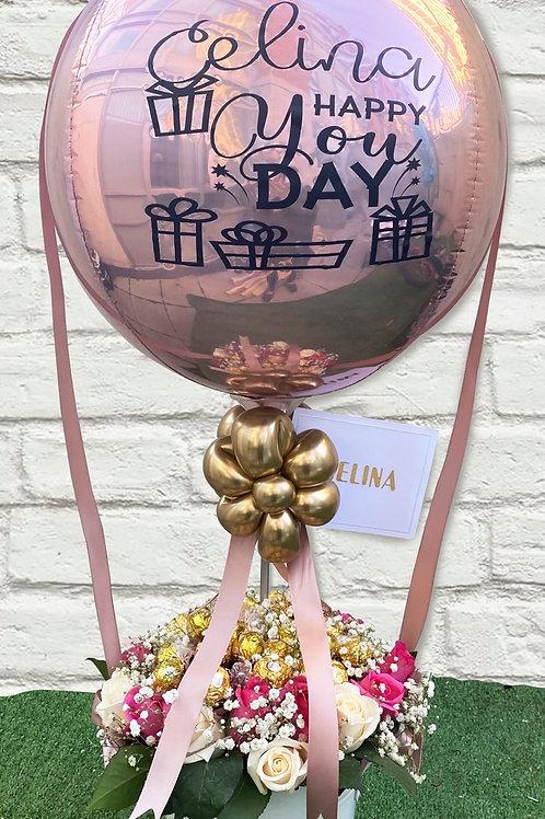 Custom Balloon- Flowers - Chocolates - Gift Box