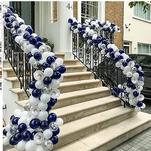 Balloon garland - front door
