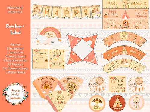 Boho-Tribal-Printable-Birthday-Party-Decoration-Download