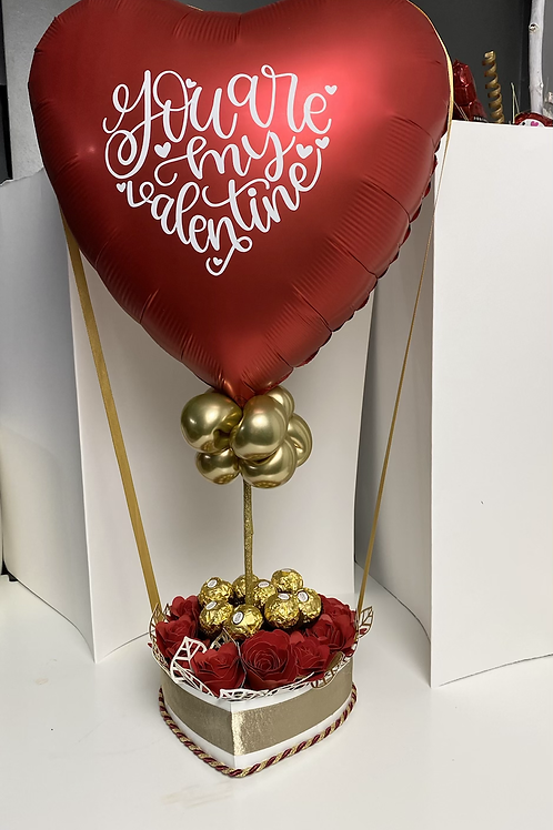 Red Sweet Heart Balloon Bouquet | Valentine's Day Decorations | Valentine's Day