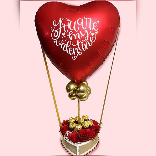 Red Sweet Heart Balloon Bouquet   Valentine's Day Decorations   Valentine's Day