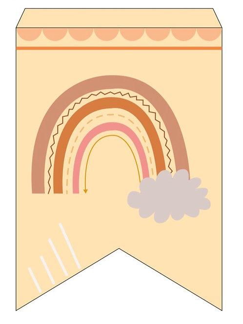 BANNER- Digital-Printable-Rainbow-Boho-Birthday-Party-Decoration