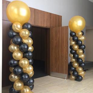 balloon column for christmas event