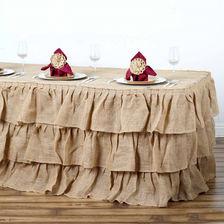 Three-Tier-Ruffled-Burlap-Table Skirt-17