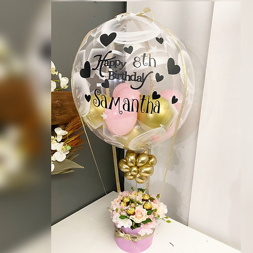 Flower and Chocolate balloon bouquet Gift