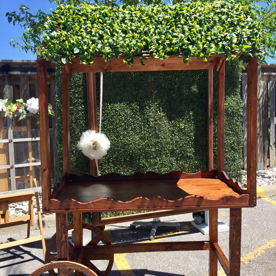 Wedding-sweet-cart-rustic-vintage-rental