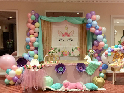 unicorn-balloon decor-first-birthday-par