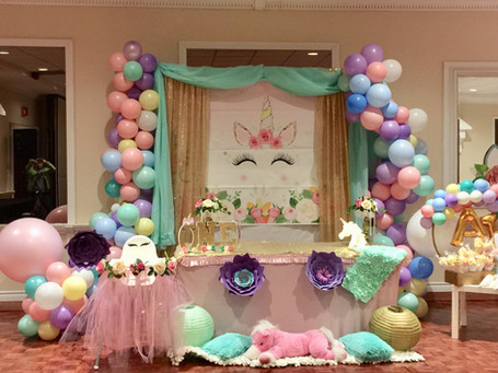 unicorn-balloon decor-first-birthday-par