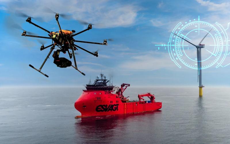 Uso de drones para el mantenimiento de parques eólicos