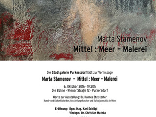 Vernissage: Mittel: Meer-Malerei