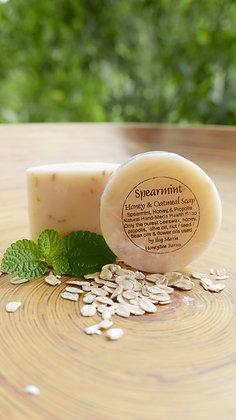 Spearmint & oatmeal soap