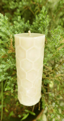 Large circle pillar with hexagon design candle