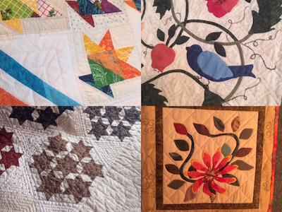 Hand quilting and applique