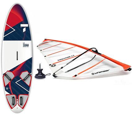Complete Windsurf Tahe Techno 148L & Unifiber Evolution Rig