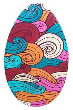 Skimboard Junior 45 x 76cm Rainbow Ocean