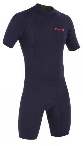 Olaian Men 1.5mm Neoprene Shorty Wetsuit - Navy Blue