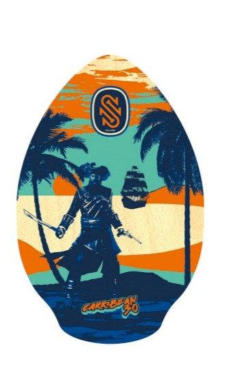 SkimOne Skimboard 30 76cm Carribean blue orange