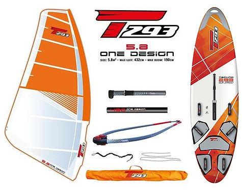 Bic Techno T293 V2 Board One Design 5.8 Complete Set V2 Rig