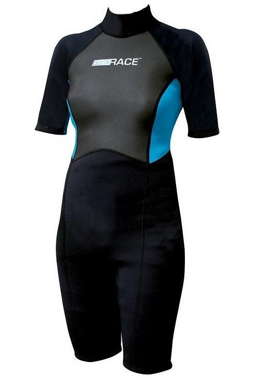 Pro Race Wetsuit Shorty Ladies 2.5 mm Back Zip