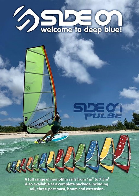 Side On Windsurf Monofilm/Xply Sail Pulse 4.5 - 7.5 m2