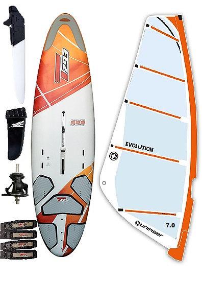 Complete T293 Advanced Edition Windsurf Bic Board 205L & Evolution Monofilm Rig
