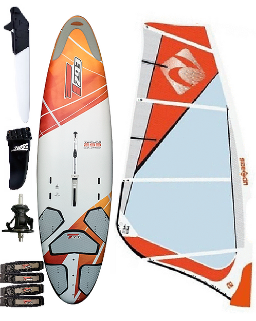 Complete T293 Beginner Edition Windsurf Bic Board 205L & 5.0m2 Monofilm Rig
