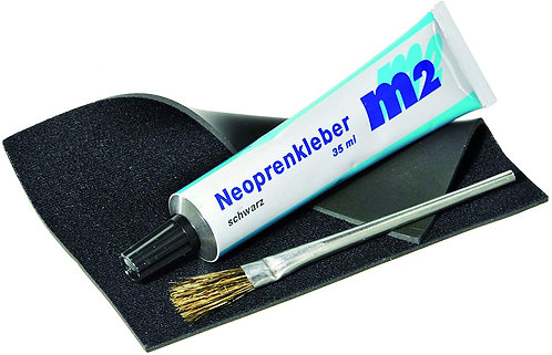 M2 Neoprene Repair Set - wetsuit glue 35ml with neoprene patch and brush