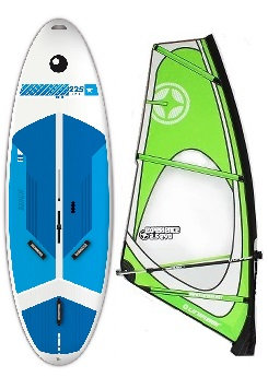 Complete School Windsurf Bic Board 225L & Experience Dacron Rig
