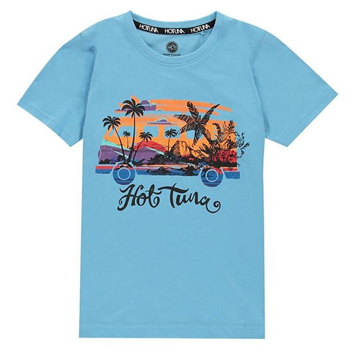 Hot Tuna Surf Island Light Blue T Shirt