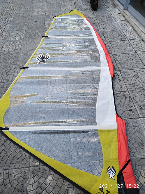 Used Sail Ezzy 4.7 Full X-Ply Superlight (411cm x 161cm)