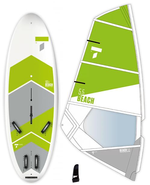 Complete School Windsurf Tahe Board 160L & Tahe Beach Dacron
