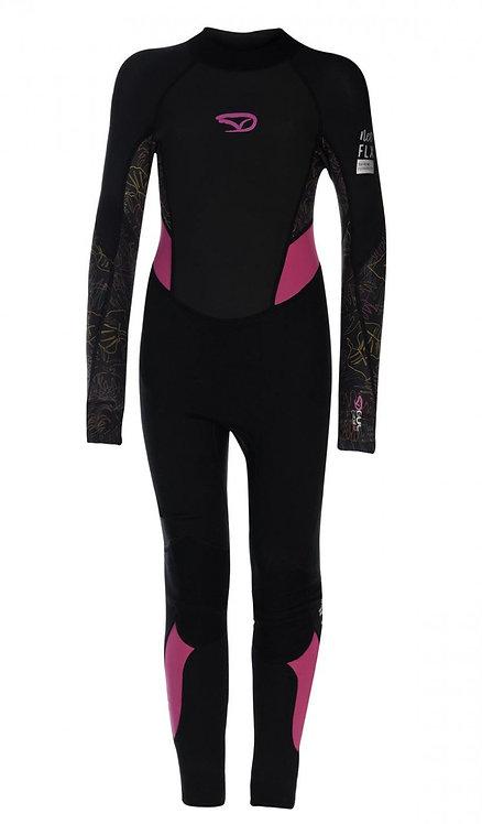 Gul Wetsuit Contour II Full Girls 3/2 mm Back Zip Black/Pink