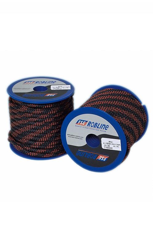 Rope Robline Sirius 4mm Tampen black/red Breaking Load 350kg (Price Per Meter)