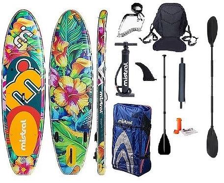Mistral Limbo Inflatable Board 10'5''+Seat +Kayak Paddle