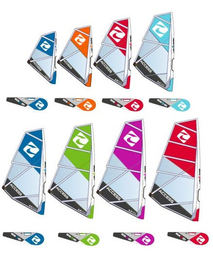 Complete Rig Windsurf Side On Access (Sail/Mast/Boom/Cup/Uphaul)