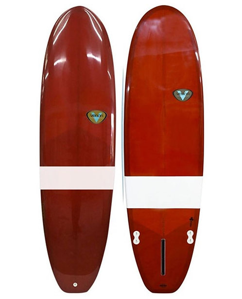 Surfboard VENON 6.6 Evo tinted red white