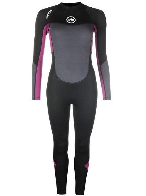 Hot Tuna Wetsuit Ladies Full 3/2mm Back Zip Black/Grey/Purple