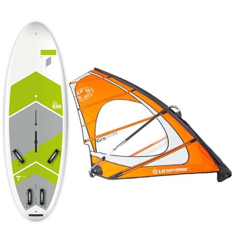 Complete School Windsurf Tahe Board 160L & Unifiber Experience Dacron