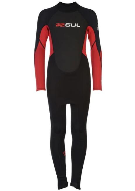 Gul Wetsuit Contour II Full Junior 3/2 mm Back Zip Red/Black