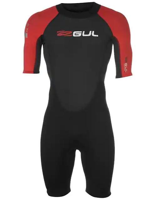 Gul Wetsuit Contour II Shorty Man 2/2 mm Back Zip Black/Red