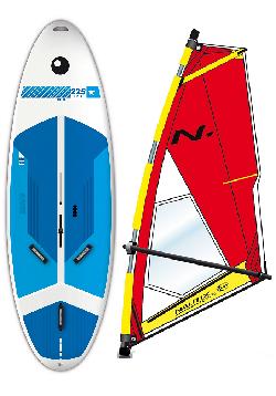Complete School Windsurf Bic Board 225L & Nautix Dacron Rig