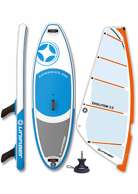Unifiber Experience iWindsurf Complete Windsurf 275L Inflatable / Monofilm Rig