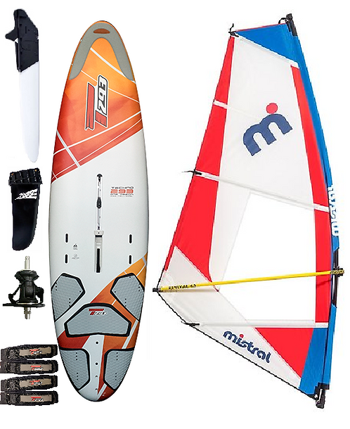 Complete T293 Revival Edition Windsurf Bic Board 205L & Dacron/Maylar Rig